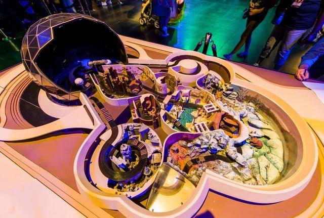 spaceship-earth-model-imagineering-epcot-center-d23-expo