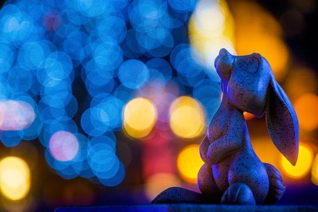 rabbit-disneyland-bokeh-christmas