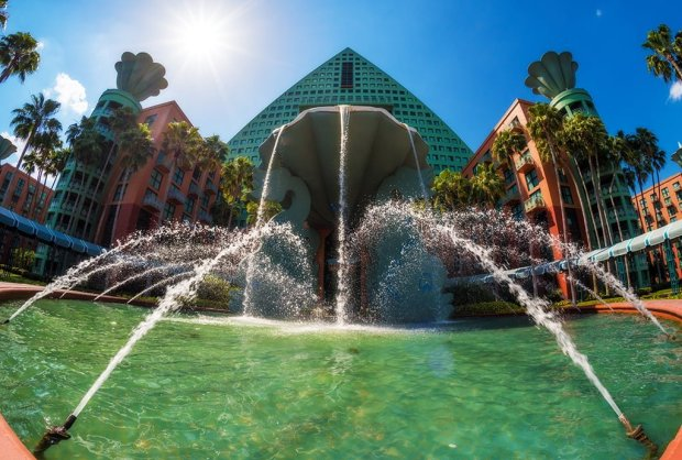 swan-dolphin-fountain-sunburst-disney