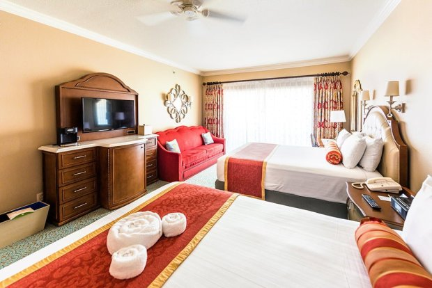 Hotel room sizes at disney world disney tourist blog for Square footage of a room