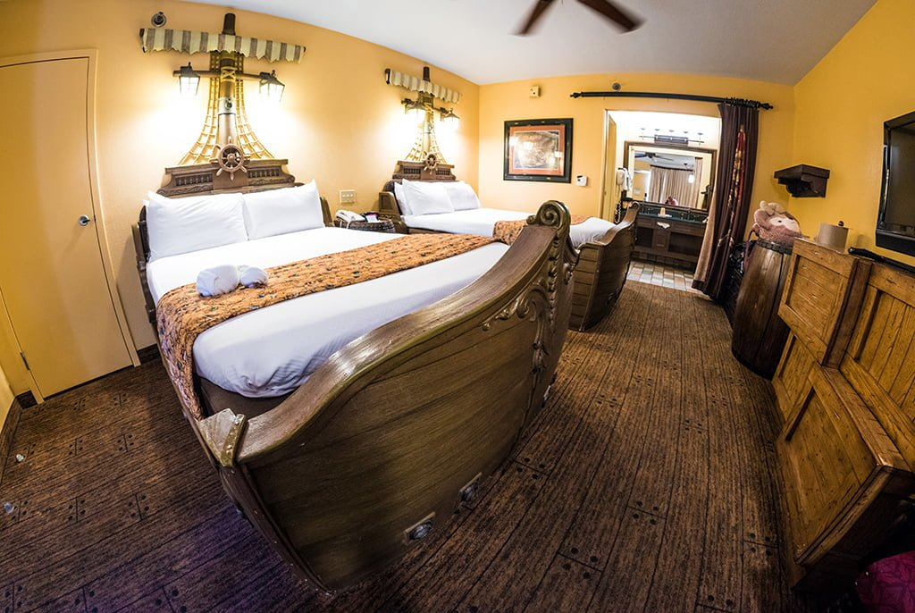 Pirate Rooms at Caribbean Beach Resort Review - Disney Tourist Blog