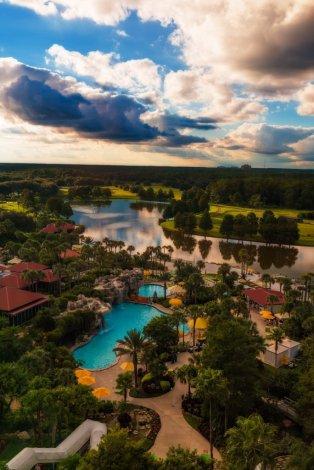 hyatt-regency-grand-cypress-disney-world-hotel-sunset