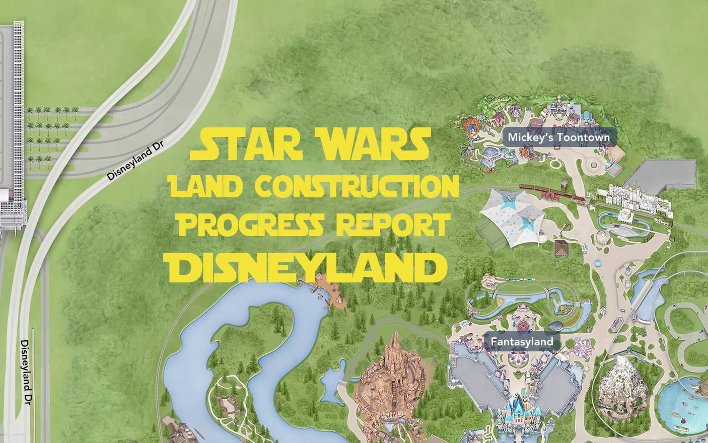 Star wars land construction update disney tourist blog star wars land construction progress report disneyland publicscrutiny Images