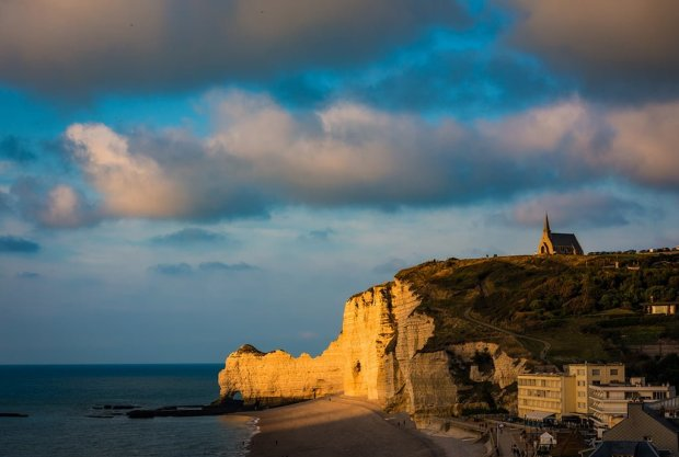 etretat-notre-dame-chapel-golden-light-normandy-france-bricker