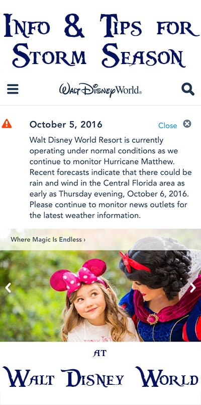 Visiting Disney World During Storm Season Disney Tourist Blog