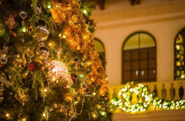 disney springs christmas tree detail