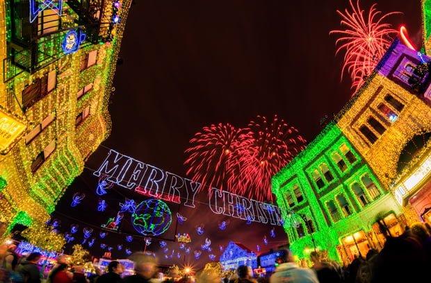 osborne lights merry christmas fireworks wdw dhs bricker - Osborne Family Christmas Lights