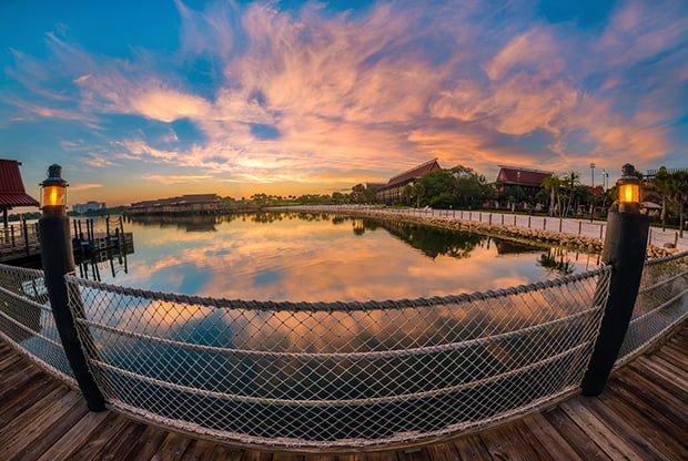 polynesian-dock-sunrise-walt-disney-world