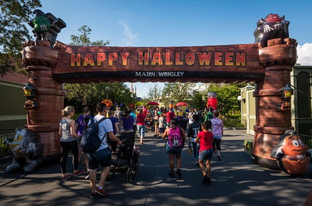 mickeys not so scary halloween party tickets beginning at 4 pm we begin around that time when we headed to the candy trail behind main street - Mickey Not So Scary Halloween Party Tickets