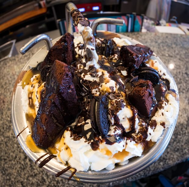 Chocolate Lover\'s Kitchen Sink at Beaches & Cream - Disney Tourist Blog