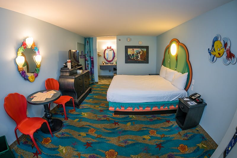 Peachy Little Mermaid Room Review Disney Tourist Blog Download Free Architecture Designs Rallybritishbridgeorg