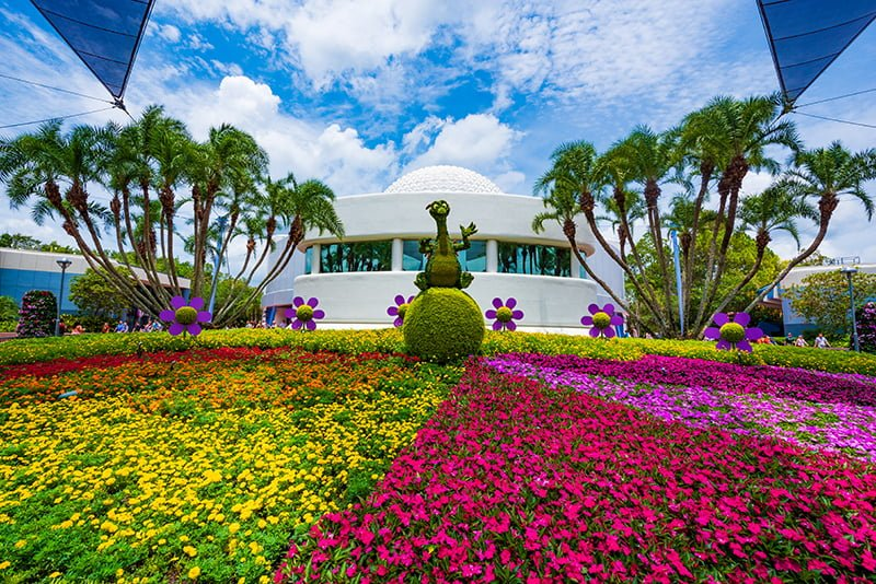 in terms of basic info about the horticulture on display at epcot during flower garden festival lets start by hitting you with some fact bombs - Flower Garden