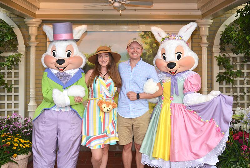 sarah tom bricker easter bunny magic kingdom disney world