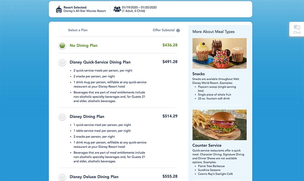 2020 Disney Dining Plan Price Increases Disney Tourist Blog