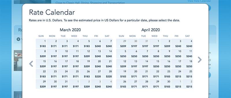 Disneyland Calendar 2020.2020 Disney World Vacation Packages Pricing Analysis Disney