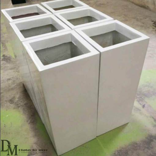 Square Plant Pots Large Garden Planters   DM Display large plant pots