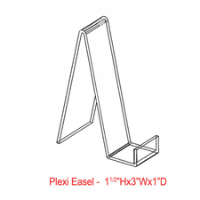 "3"" Plexi all purpose easels"