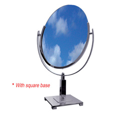 Double side oval mirror with square base