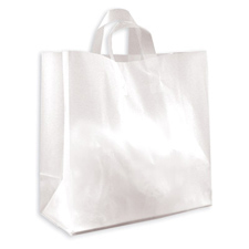 Large clear frosted bag with loop handle