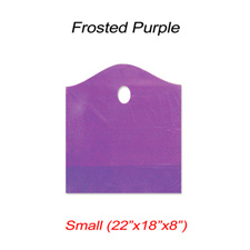 Small wave frosted purple bag