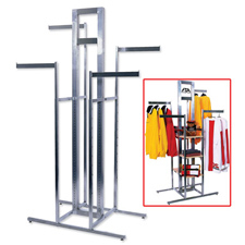 Alta cross merchandiser 4-way rack