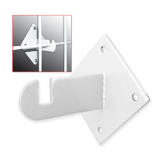 White gridwall mount bracket