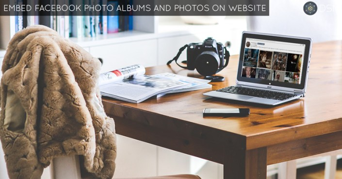 embed facebook photo albums and photos on website