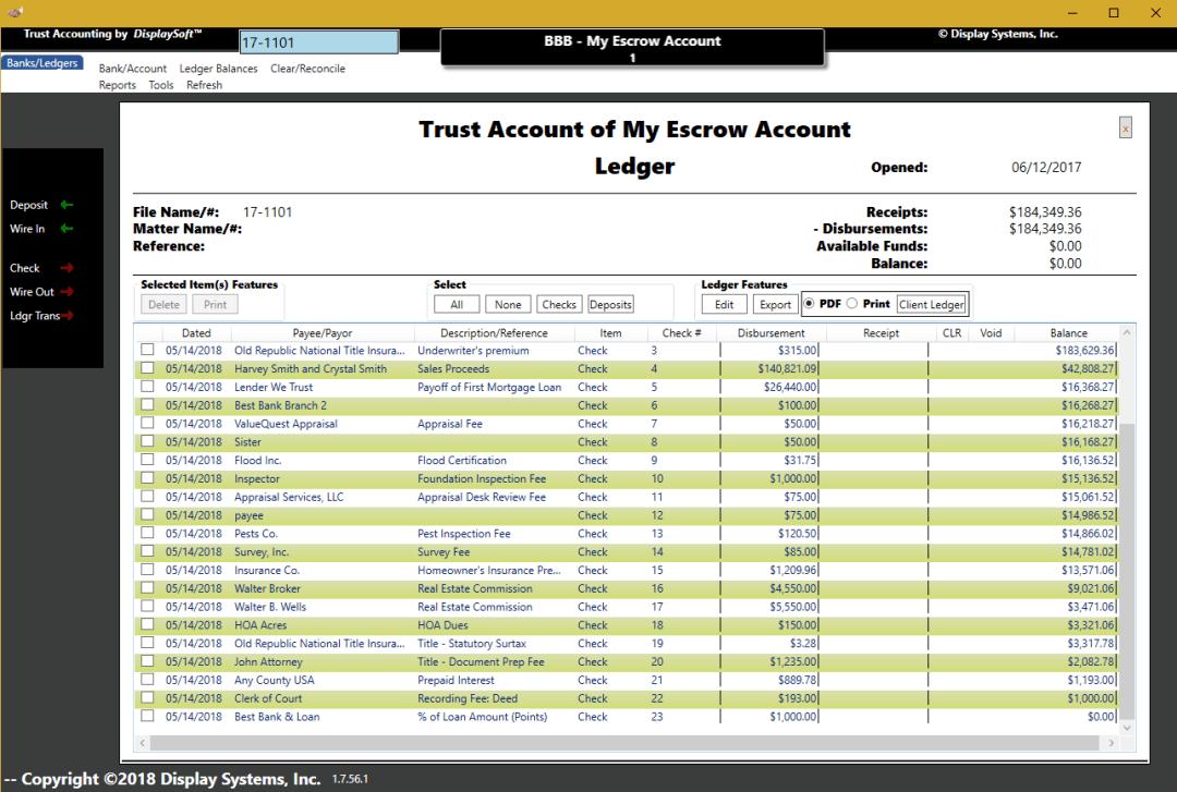 DisplaySoft™ Trust Account Module