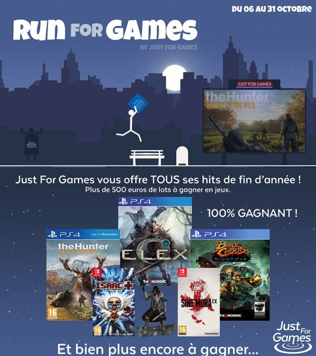 Run for Games avec Just For Games - des lots à gagner 12
