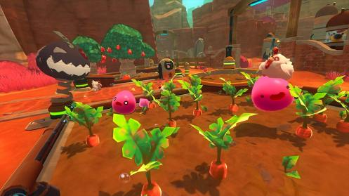 SLIME-RANCHER-Slimes-roses-poules-carottes-potager