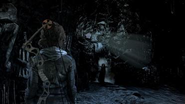 The Walking Dead Episode Final Clementine dans une grotte sombre