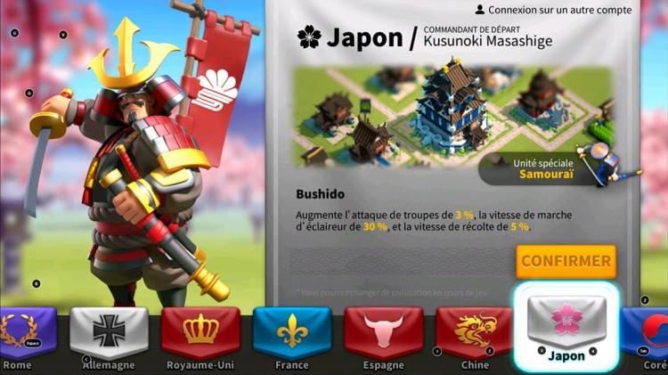Rise of Kingdoms BlueStacks civilization Japon