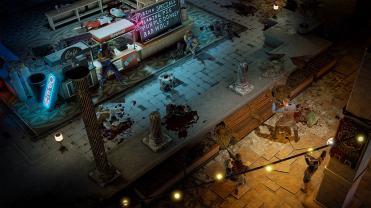Wasteland 3 combat dans un café