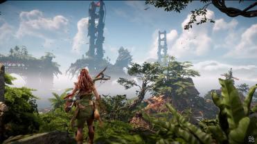 Horizon Forbidden West State of Play Gameplay PS5 vers les ruines de San Francisco