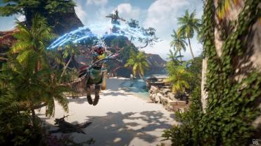 Horizon Forbidden West State of Play Gameplay PS5 parachute bien utile
