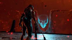 Returnal - Le troisième boss, qui vous fera faire du grappin pendant le combat