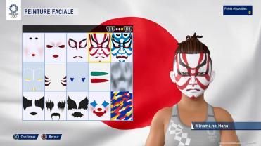JEUX OLYMPIQUES TOKYO 2020 - Menu personnalisation peinture