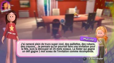 Les Sisters Show Devant dialogue
