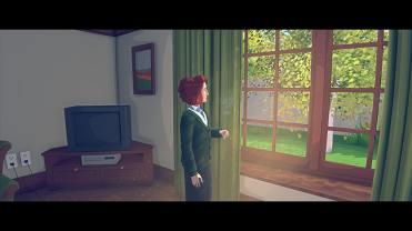 Ado devant une fenêtre