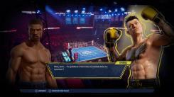 Big Rumble Boxing Creed Champions dialogue entre Creed et Sporino
