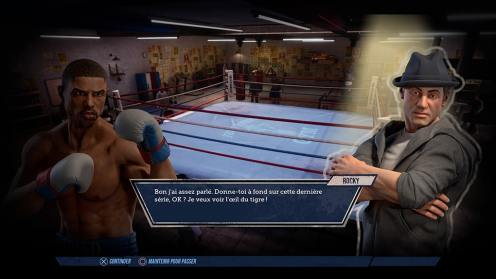 Dialogue entre Creed et Rocky