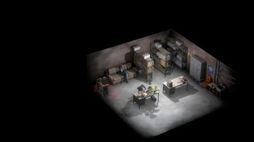 Murder Mystery Machine Cassandra Clarke et Nate Huston dans le bunker