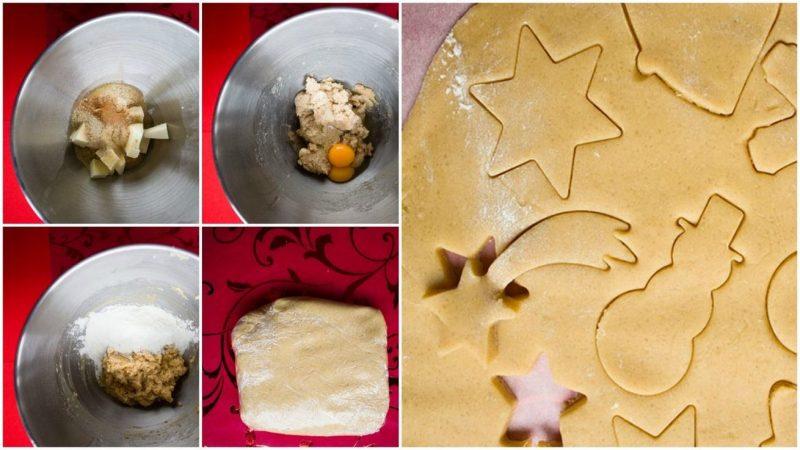 Christmas cookies decorated ingredients