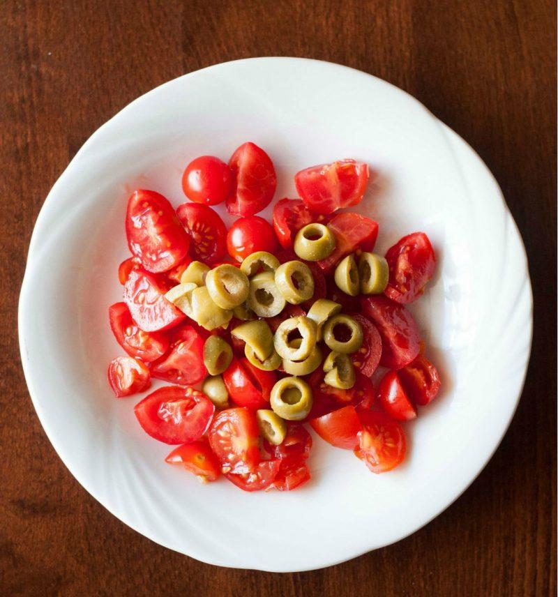pasta olive e pomodorini ingredienti