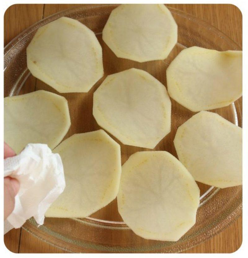 patate light al microonde tamponate