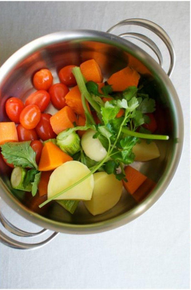 polpette di tacchino in brodo verdure
