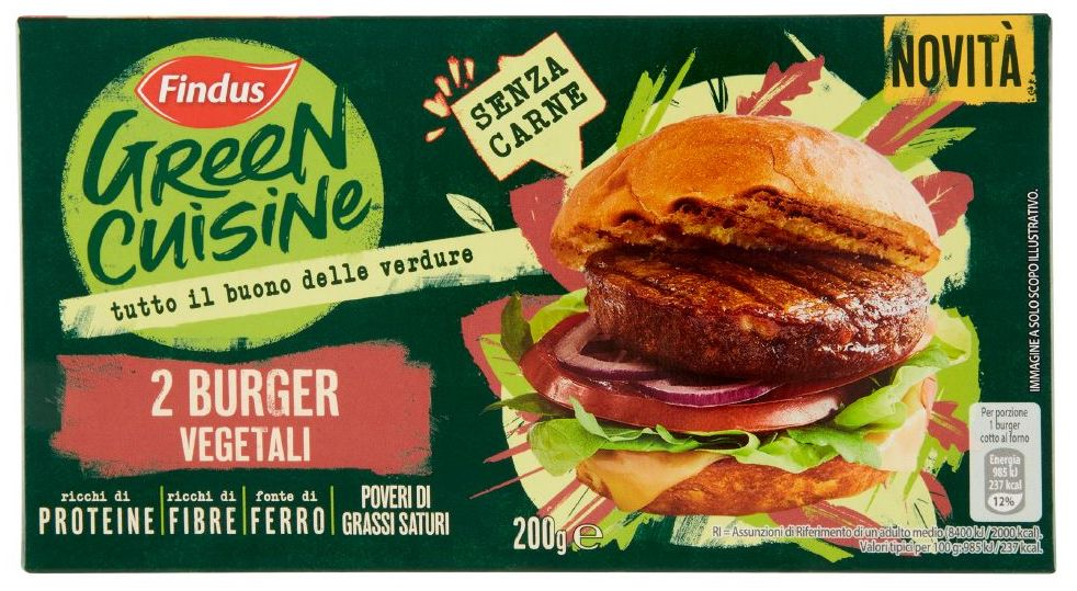 findus green cuisine burger