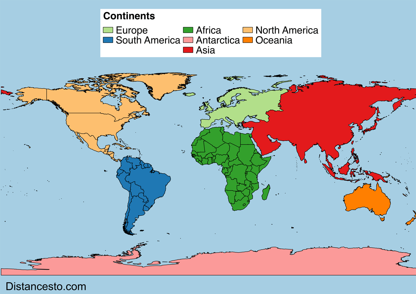 List Of The Continents In The World W Wp