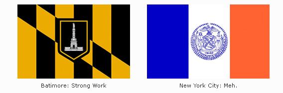 Baltimore & New York Flags