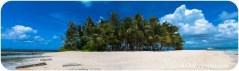 Otra vista del paradisíaco islote de Guyam